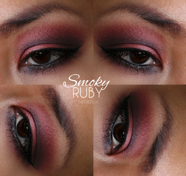 smoky eye makeup, smokey eye makeup, gemstone ruby, arabic makeup, exotic eye makeup