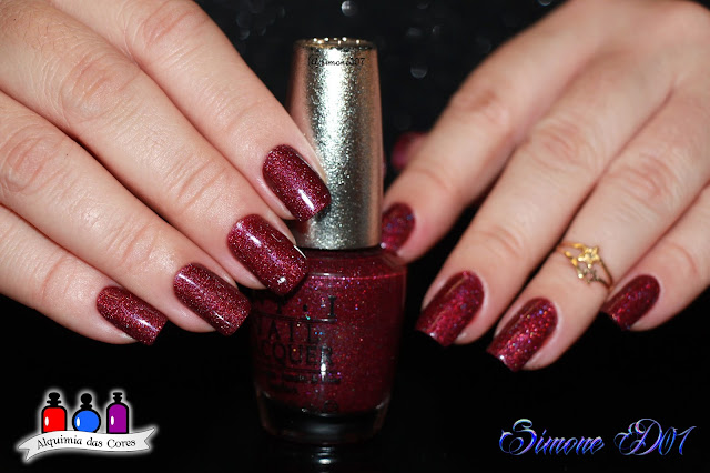 Alê M,  Coletivo, Designer Series Collection, DS Extravagance, DS026, Holo, Holográfico, holographic, Magenta, Marii T., Mony D07, OPI,