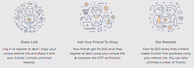 Abof Refer A Friend: Sign Up & Get Rs.200