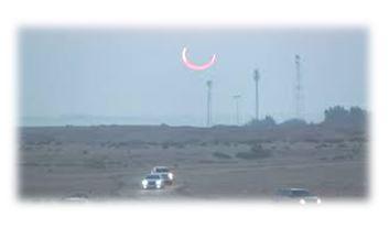كسوف نادر للشمس قطع مساره خلال 12 ألف و900 كيلومتر من سطح الأرض