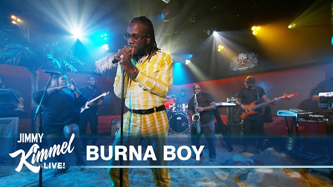 Watch Burna Boy perform 'Anybody'on Jimmy Kimmel Live