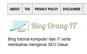 Perbedaan 2 Pengaturan Deskripsi Diblogger4