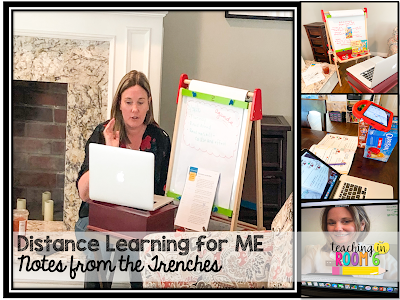 One teacher's routine for distance learning.