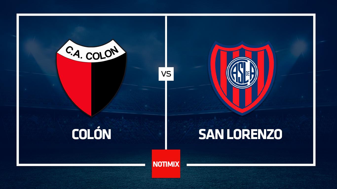 EN VIVO: Colón y San Lorenzo juegan en Santa Fe y buscan ser punteros de la Zona A