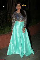 Nikki Galrani in Green Skirt  Top at Marakathamani music launch ~  Exclusive (30).JPG