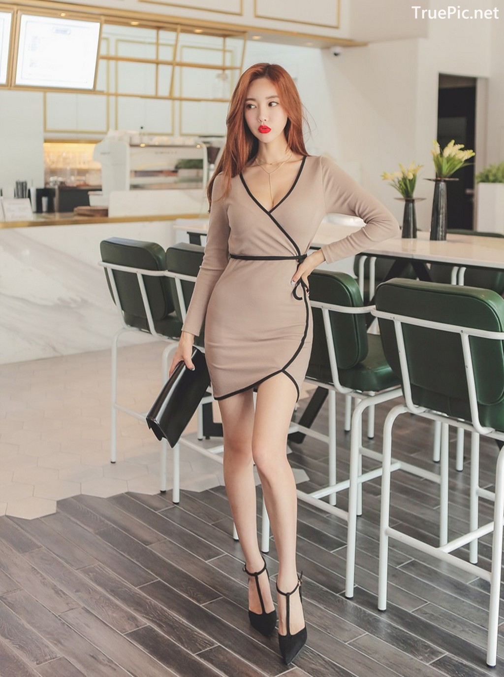 Image Korean Fashion Model - Hyemi - Office Dress Collection - TruePic.net - Picture-8