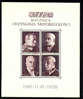 Poland-1938  Pilsudski Narutowicz Moscicki Smigly Rydz