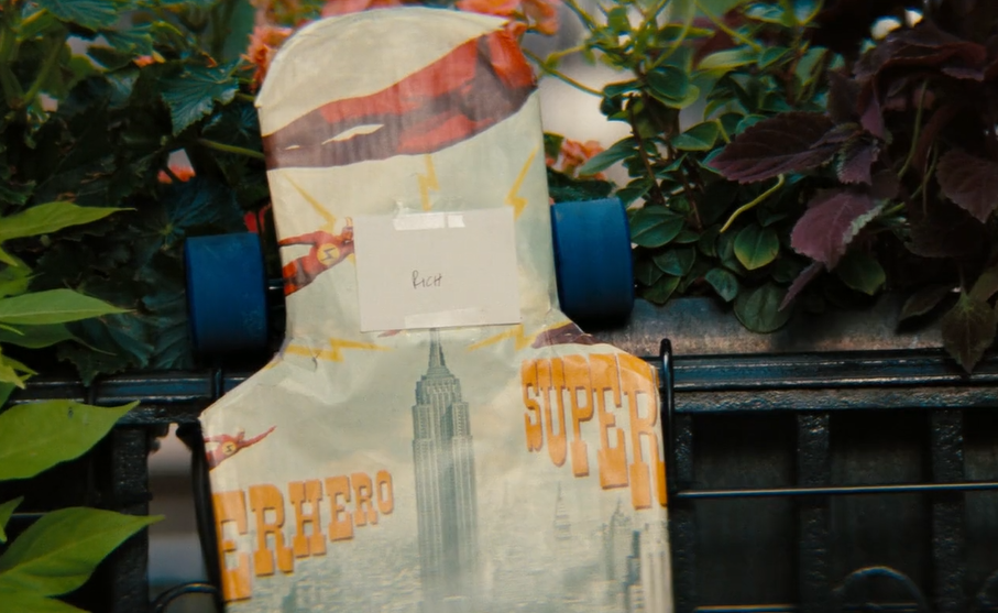 skateboard for cheryl's son in the movie secret life of walter mitty
