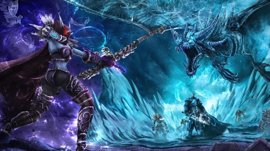 Sylvanas Windrunner, Lich King, World of Warcraft, 4K, #3.2717