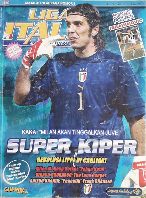 GIANLUIGI BUFFON ITALIAN GOALKEEPER FOOTBALL MAGAZINE COVER