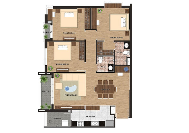 Thiết kế căn hộ One 18 Ngọc Lâm
