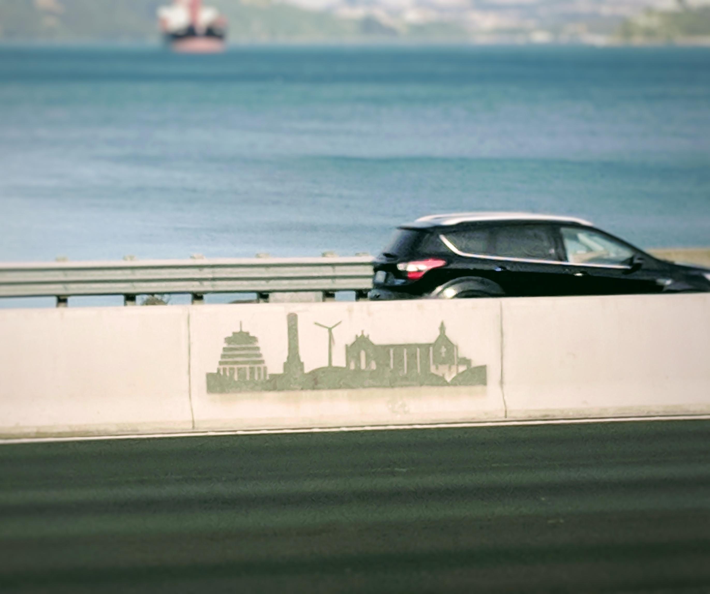 Wellington motorway art