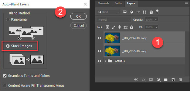 Auto-Blend Layers in Photoshop