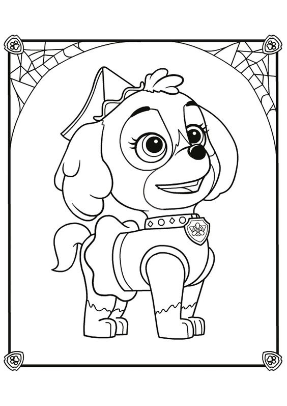 Paw patrol coloring pages 12