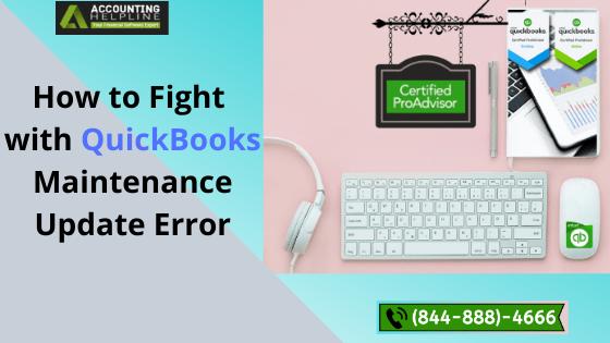 QuickBooks Maintenance Update Error