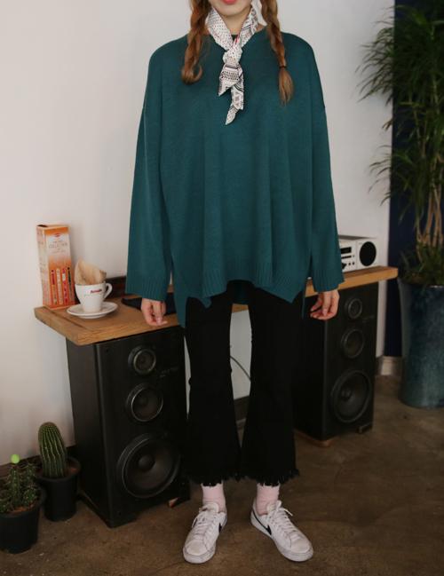Oversized Dip Hem Sweater