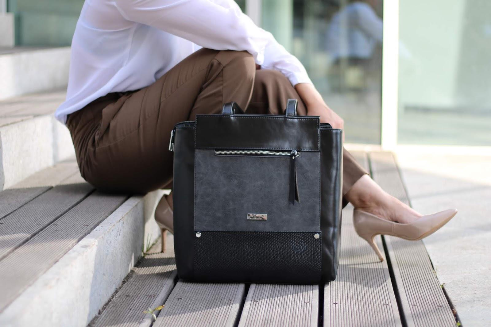 Shopper w stylizacji - do czego nosić duże torebki?