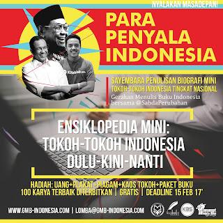 Sayembara Penulisan Biografi Mini Tokoh-Tokoh Indonesia Tingkat Nasional GRATIS