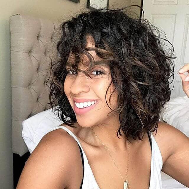 latest short curly hair