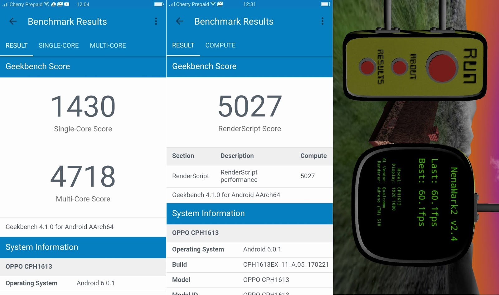 OPPO F3 Plus Benchmark Results