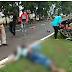 407 ट्रक की चपेट में आने से 20 वर्षीय बाइक चालक की मौके पर ही मौत