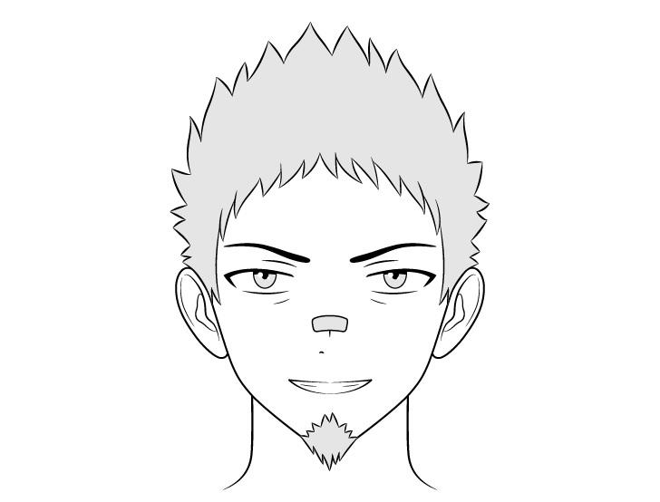 Anime preman menggambar wajah bullying