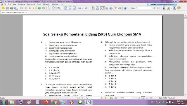 Contoh soal tes P3K/PPPK guru ekonomi SMA dan kunci jawaban