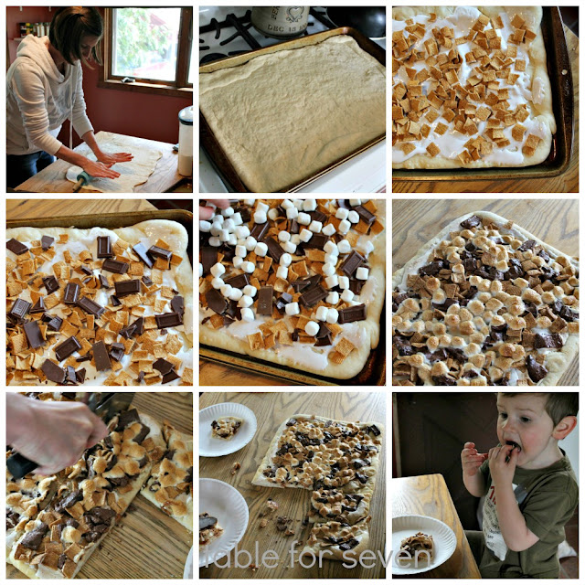 S'mores Pizza with Homemade Pizza Crust