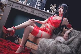 Cosplay [鬼畜瑶] NO.026 红色束缚