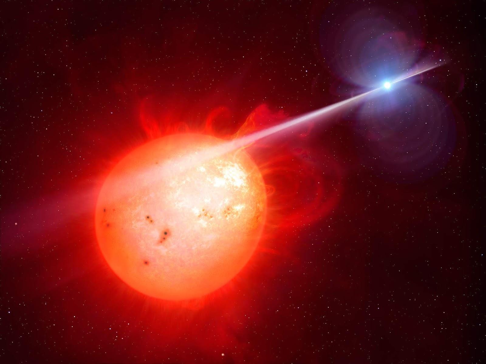 AR Scorpii, Red dwarf star, White dwarf star, Radiation, HD, 5K, Space