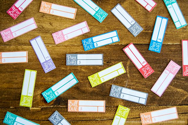 organization freebie printable planner stickers