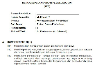 RPP 1 Lembar Kelas 6 Semester 1 Kurikulum 2013 Tema 2 Tahun 2020/2021 - Guru Krebet 3