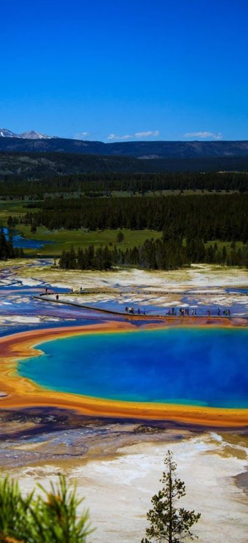 Grand Prismatic Spring in Yellowstone National Park, Wyoming and 50+ Secret Places in America That Most Tourists Don't Know About