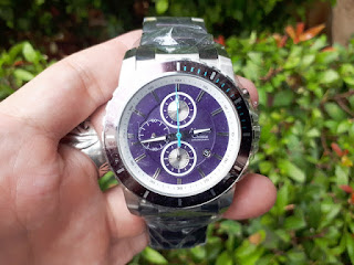 Alexandre Christie AC6141 AC-6141 Men Purple Silver Stainless Steel ALC004
