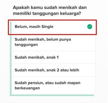 Pertanyaan Status Pernikahan