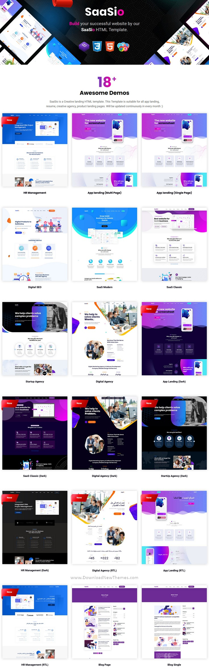 One Page Multipurpose Landing Page Template
