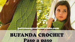 Bufanda Crochet Muy Fácil con Diseño Geométrico