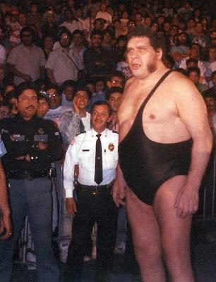 Fotografía de André el Gigante en los años 80