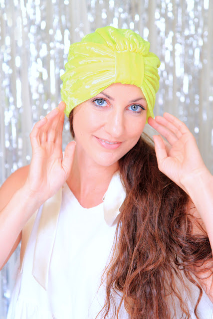 Crushed Velvet Turban in Chartreuse by Mademoiselle Mermaid