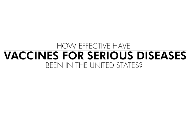How Effective Have Vaccines for Serious Diseases Been in the United States?