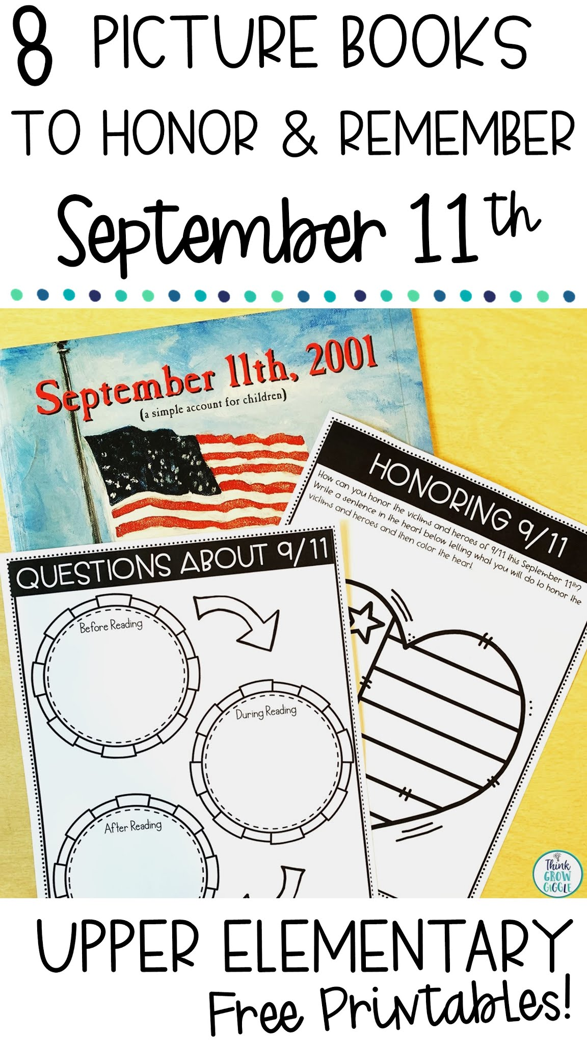september 11th picture books and activities upper elementary