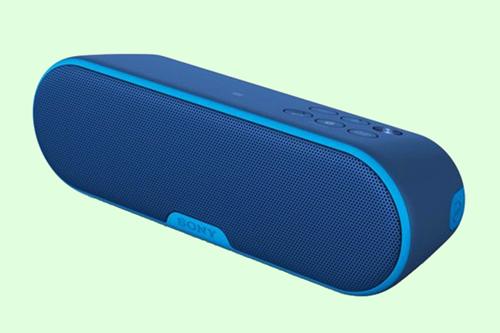 Caixa de som Sony sem fio, com conexão Bluetooth e NFC, e bateria que dura 12h