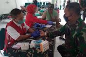 Bantu PMI, Personel Kodim 0604/Karawang Donor Darah