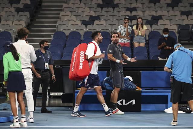 Tennis: Open Australia. Gli Italiani Caruso-Fognini, contrasti in diretta tv