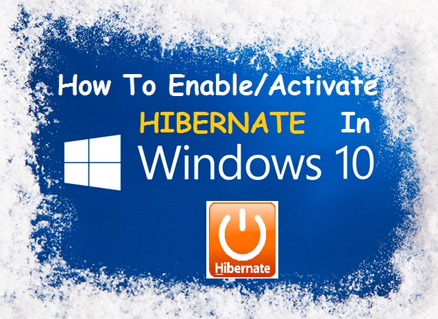 add hibernate in windows 10