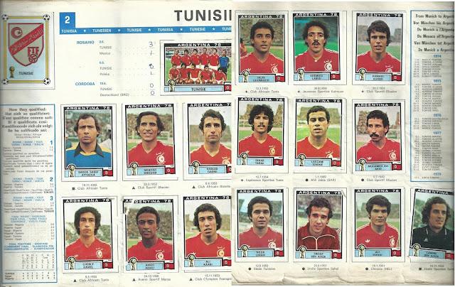 Stickers Tunisia 1978