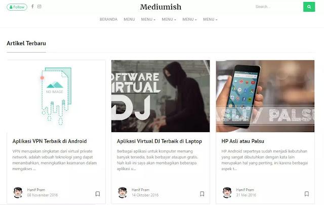 Medium blogger