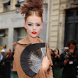 Frida Gustavsson with hand fan ~ Fashion Hand  Fans