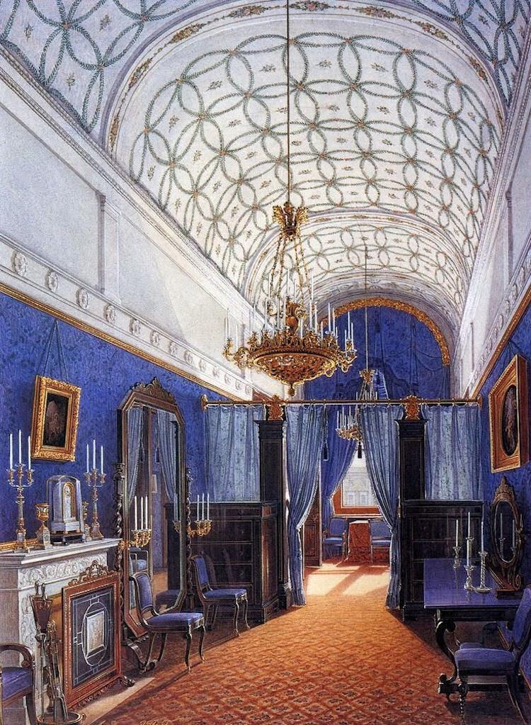 gods and foolish grandeur blue rooms watercolors of. Black Bedroom Furniture Sets. Home Design Ideas
