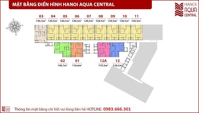 Dự án chung cư  Hanoi Aqua Central (44 Yên Phụ)